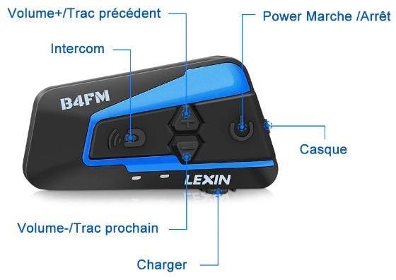 Intercom moto LEXIN LX-B4FM